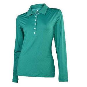 NWT Nike Green Womens Long Sleeve Polo Shirt XXL